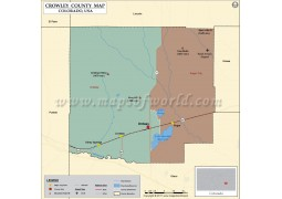 Crowley County Map, Colorado