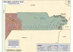 Dolores County Map, Colorado