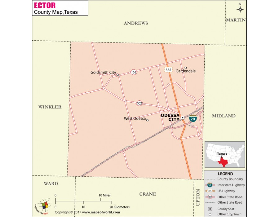 Ector County, Texas Property Search and Interactive GIS Map