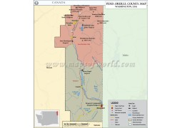 Pend Oreille County Map, Washington