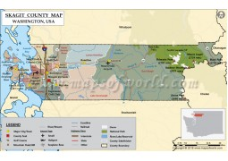 Skagit County Map, Washington