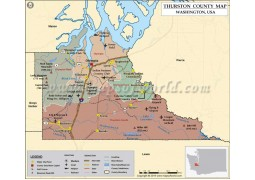 Thurston County Map, Washington