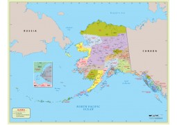 Alaska  Zip Code Map With Counties