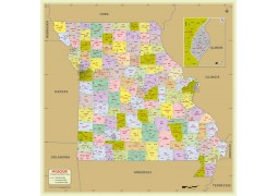 Missouri Zip Code Map With Counties
