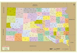 South Dakota Zip Code Map With Counties