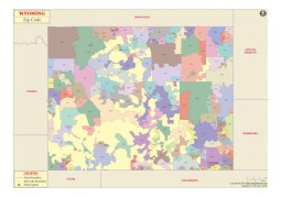 Wyoming Zip Codes Map