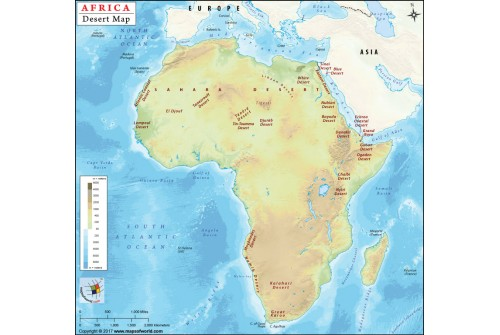 African Deserts Map