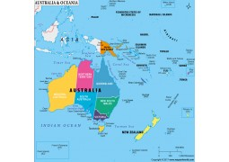 Australia and Oceania Map
