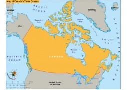 Map of Canadas Three Oceans