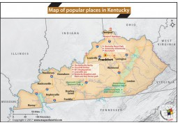 Map of Popular Places in Kentucky