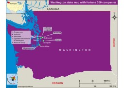 Washington State Map with Fortune 500 Companies