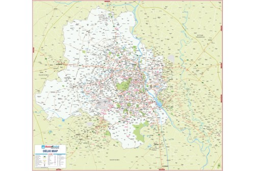 Delhi Detailed Map