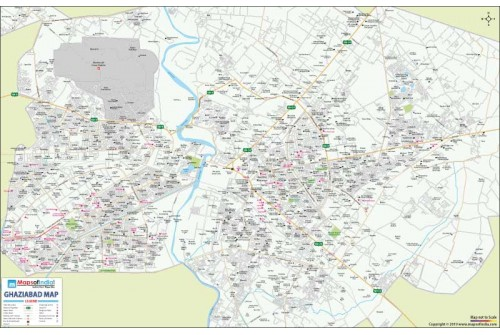 Ghaziabad Detailed City Map