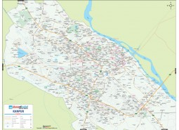 Kanpur Detailed City Map