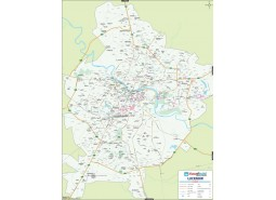 Lucknow Detailed City Map