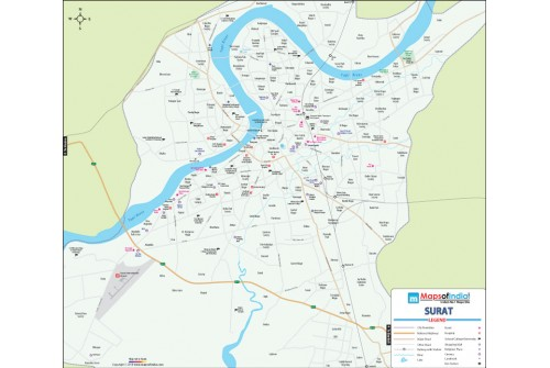Surat Detailed City Map