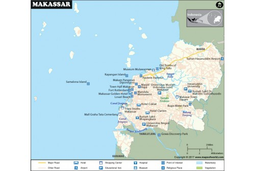 Makassar City Map