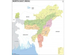North-East India Map