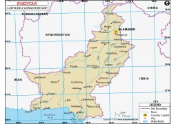 Pakistan Latitude and Longitude Map