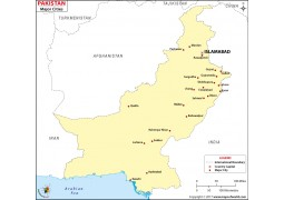 Pakistan Map with Cities