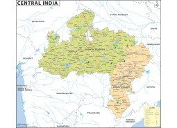 Central India Map