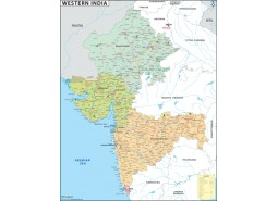 Western India Map