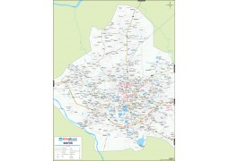 Raipur Large City Map