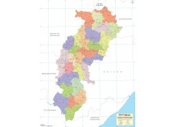 Chhattisgarh Detailed Map