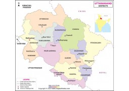 Uttrakhand Detailed Map