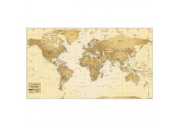 Antique Look World Map [Vinyl Print]
