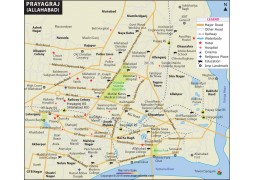 Prayagraj (Allahabad) City Map