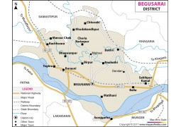 Begusarai District Map