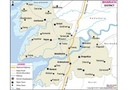 Bharuch District Map