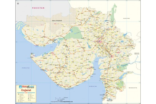 Large Map of Gujarat