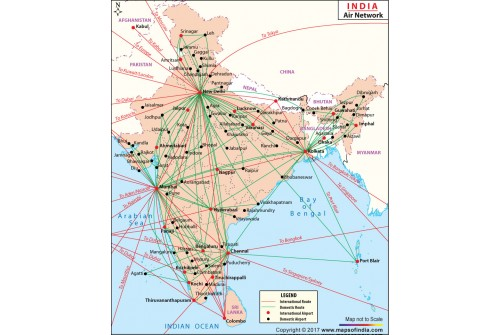 India Air Route Network Map