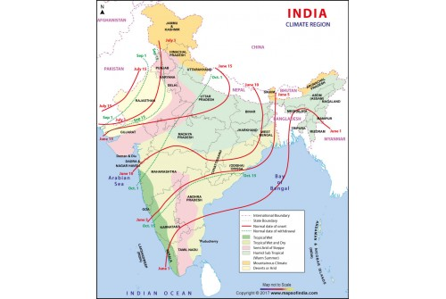 India Climate Region Map