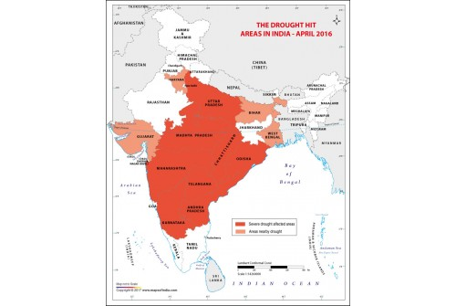 India Drought Prone Areas 2016 Map