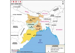 India East Zone Map