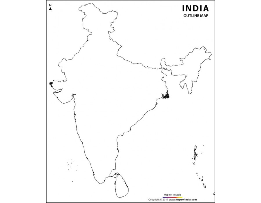 Buy India Outline Map