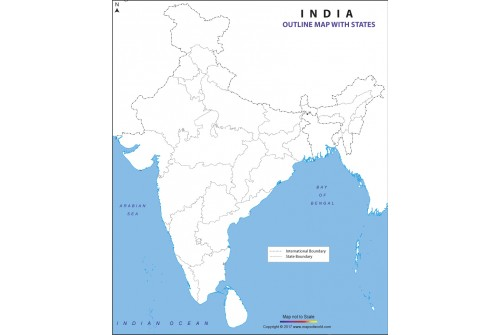 Buy India Outline Map with States