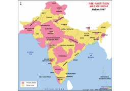 India Pre-Partition Map