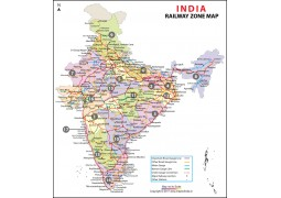 India Railway Zonal Map