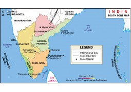 India South Zone Map