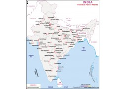 India Major Thermal Power Plants Map