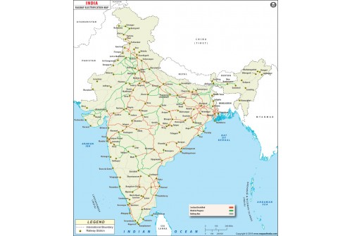 Indian Railway Electrification Map