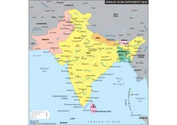 Indian Subcontinent Map