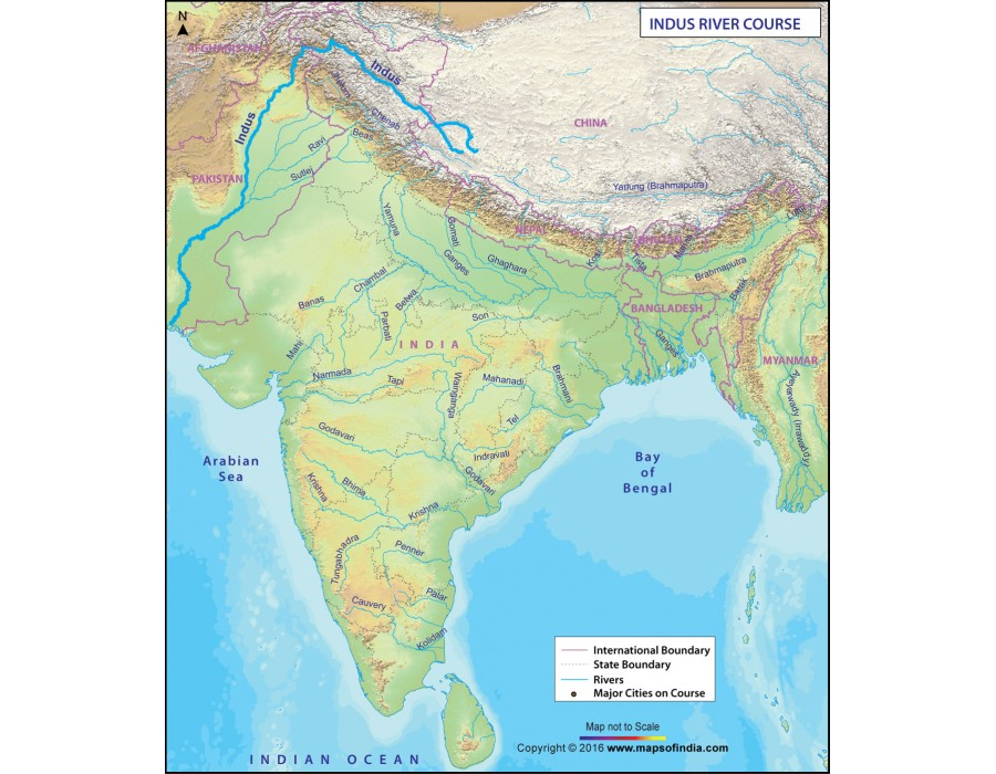Buy Indus River Map