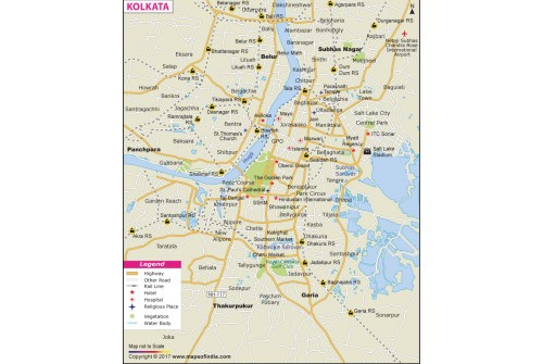 Kolkata City Map
