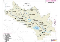 Lahaul and Spiti District Map