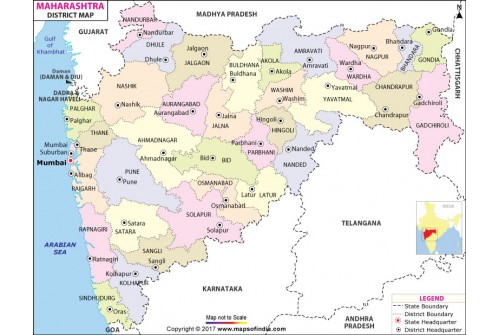 Maharashtra District Map